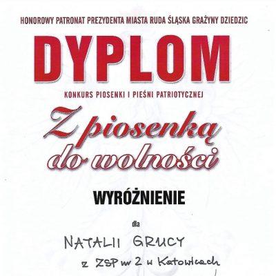 Dyplom - Natalia Gruca