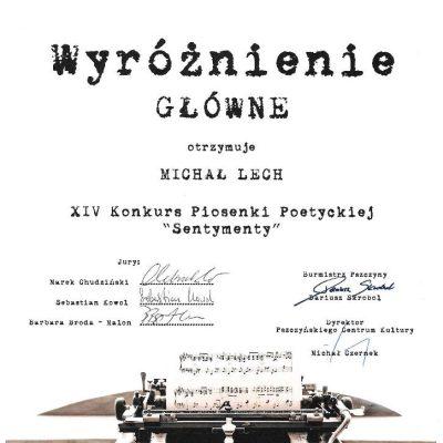 Wyróżnienie - Michał Lech